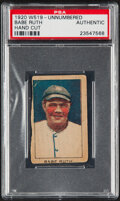Baseball Cards:Singles (Pre-1930), 1920 W519 Unnumbered Babe Ruth (Hand Cut) PSA Authentic....