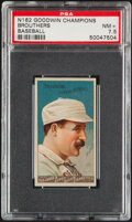 Baseball Cards:Singles (Pre-1930), 1888 N162 Goodwin Champions Brouthers PSA NM+ 7.5 - Only 2 Higher!...