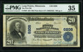 National Bank Notes:Minnesota, Long Prairie, MN - $20 1902 Plain Back Fr. 660 The First National Bank Ch. # 6208 PMG Choice Very Fine 35.. ...