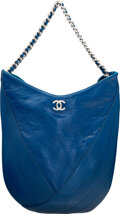 """Luxury Accessories:Bags, Chanel Runway Blue Patent Leather Teardrop Bucket Bag with Silver Hardware . Condition: 2. 13"""" Widt..."""
