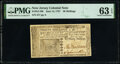 Colonial Notes:New Jersey, New Jersey June 14, 1757 30s PMG Choice Uncirculated 63 EPQ.. ...