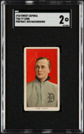 Baseball Cards:Singles (Pre-1930), 1909-11 T206 Sweet Caporal 350/30 Ty Cobb (Portrait-Red) SGC Good 2....