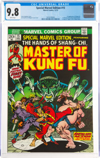 Special Marvel Edition #15 Master of Kung Fu (Marvel, 1973) CGC NM/MT 9.8 White pages