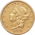 Liberty Double Eagles, 1870-CC $20 XF40 PCGS. Variety 1-A....