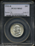 Washington Quarters: , 1932-D MS63 PCGS. The current Coin Dealer Newsletter (...