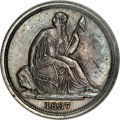Seated Dimes, 1837 10C No Stars, Small Date MS62 PCGS....