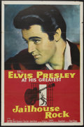 "Movie Posters:Elvis Presley, Jailhouse Rock (MGM, 1957). One Sheet (27"" X 41""). ElvisPresley...."