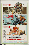 "Movie Posters:James Bond, Thunderball (United Artists, 1965). One Sheet (27"" X 41""). James Bond...."