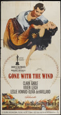 "Movie Posters:Academy Award Winner, Gone with the Wind (MGM, R-1961). Three Sheet (41"" X 81""). AcademyAward Winner...."