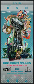 Football Collectibles:Tickets, Super Bowl LIV Raw Ticket. ...