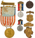 Political:Ribbons & Badges, Grover Cleveland: Group of 6 Inaugural badges. ...