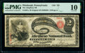 Pittsburgh, PA - $2 Original Fr. 387a The Allegheny National Bank Ch. # 722 PMG Very Good 10