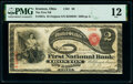 Ironton, OH - $2 Original Fr. 387a The First National Bank Ch. # 98 PMG Fine 12