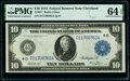 Fr. 917 $10 1914 Federal Reserve Note PMG Choice Uncirculated 64 EPQ