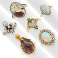 Estate Jewelry:Rings, Victorian Diamond, Multi-Stone, Painted Portrait, Gold Rings. ... (Total: 6 Items)