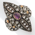 Estate Jewelry:Rings, Ruby, Diamond, Silver-Topped Gold Ring Stones:...