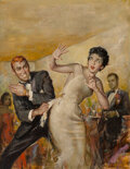 Paintings, James Alfred Meese (American, 1917-1971). Asking for Trouble, paperback cover, 1956. Oil on Masonite. 30-1/4 x 23 in...
