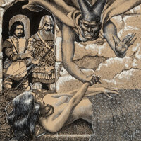 Virgil Finlay (American, 1914-1971) The Black Abbot of Puthuum, Weird Tales magazine interior illustration, March 1936...