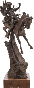 After Carl Kauba (Austrian, 1865-1922) The Scout Bronze 30-1/2 x 9-1/4 x 9-1/4 inches (77.5 x 23.5 x 23.5 cm) Signed