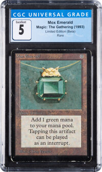 Magic: The Gathering Mox Emerald Beta Edition (Wizards of the Coast, 1993) CGC Excellent 5