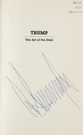 """Autographs:Others, Donald Trump Signed """"Trump: The Art of The Deal"""" Book...."""