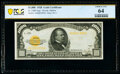 Small Size:Gold Certificates, Fr. 2408 $1,000 1928 Gold Certificate. PCGS Banknote Choice Unc 64.. ...