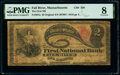 Fall River, MA - $2 Original Fr. 387a The First National Bank Ch. # 256 PMG Very Good 8