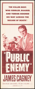"""Movie Posters:Crime, The Public Enemy (Warner Bros., R-1954). Folded, Fine+. Insert (14"""" X 36""""). Crime.. ..."""