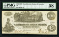 Confederate Notes:1862 Issues, T39 $100 1862 PF-5 Cr. 290 PMG Choice About Unc 58.. ...