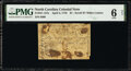 Colonial Notes:North Carolina, North Carolina April 2, 1776 $1 Scroll with denomination in white PMG Good 6 Net.. ...