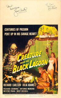 """Creature from the Black Lagoon (Universal International, 1954). Fine/Very Fine on Cardstock. Signed Window Card (14""""..."""