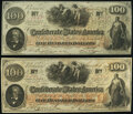 Confederate Notes:1862 Issues, T41 $100 1862 PF-20 Cr. 316A Two Examples Very Fine; Extremely Fine.. ... (Total: 2 notes)