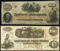 Confederate Notes:1862 Issues, T40 $100 1862 PF-1 Cr. 300 Extremely Fine;. T41 $100 1862 PF-17 Cr. 318 Extremely Fine-About Uncirculated.. ... (Total: 2 notes)