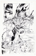 Original Comic Art:Story Page, Michael Turner and Duy Truong (as D-Tron) Medieval Spawn / Witchblade #3 Story Page 14 Original Art (Image, 1996)....