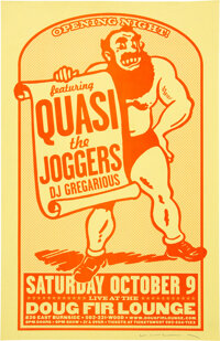 Quasi Doug Fir Lounge Opening Night Concert Poster Signed By Designer Mike King (2004)