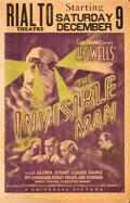 Movie Posters:Horror, The Invisible Man (Universal, 1933). Fine/Very Fine.