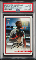 Baseball Cards:Singles (1970-Now), 2018 Topps On Demand Ronald Acuna Jr. (Rookie Year in Review) #40 PSA Gem Mint 10....