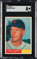 Baseball Cards:Singles (1960-1969), 1961 Topps Andy Carey #518 SGC Authentic....