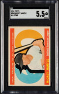 Baseball Cards:Singles (1960-1969), 1960 Topps Mickey Mantle (All Star) #563 SGC EX+ 5.5....