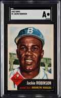 Baseball Cards:Singles (1950-1959), 1953 Topps Jackie Robinson #1 SGC Authentic....