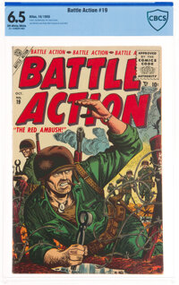 Battle Action #19 (Atlas, 1955) CBCS FN+ 6.5 Off-white to white pages