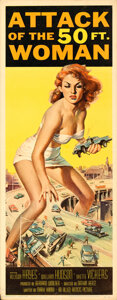 Movie Posters:Science Fiction, Attack of the 50 Foot Woman (Allied Artists, 1958). Folded...