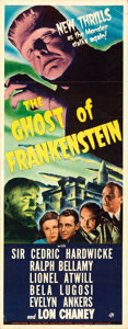 Movie Posters:Horror, The Ghost of Frankenstein (Universal, 1942). Folded, Very ...