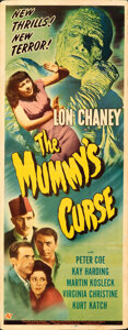 Movie Posters:Horror, The Mummy's Curse (Universal, 1944). Folded, Fine+.