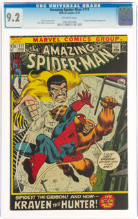 The Amazing Spider-Man #111 (Marvel, 1972) CGC NM- 9.2 Off-white pages