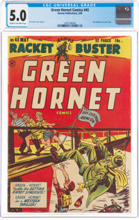Green Hornet Comics #45 (Harvey, 1949) CGC VG/FN 5.0 Cream to off-white pages