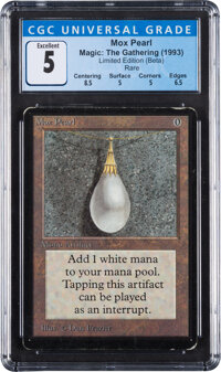 Magic: The Gathering Mox Pearl Beta Edition (Wizards of the Coast, 1993) CGC Excellent 5