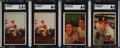 Baseball Cards:Singles (1950-1959), 1953 Bowman Color SGC Graded Stars Lot of 4.... (Total: 4 items)