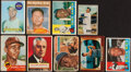 Baseball Cards:Lots, 1951-1969 Bowman & Topps Stars and HoFers Collection (9)....