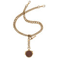 Estate Jewelry:Watches, Victorian Carnelian, Bloodstone, Rose Gold Watch Chain with Fob, English, circa 1864. ...